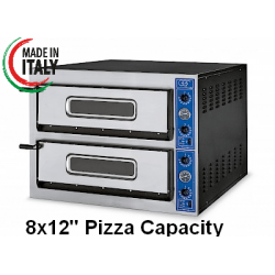 "GGF X44/30 Twin Deck Electric Pizza Oven 8x12"" Pizza"