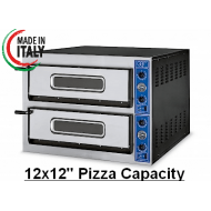 "GGF X66/30 Twin Deck Electric Pizza Oven 12x12"" Pizza"