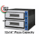 "GGF X66/36 Twin Deck Electric Pizza Oven 12x14"" Pizza"