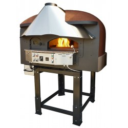 Dual Fuel Wood & Gas Rotating Pizza Oven Series Mix85RK Silicon Coated