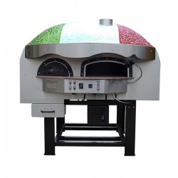 Dual Fuel Wood & Gas Rotating Pizza Oven Series MIX120RK