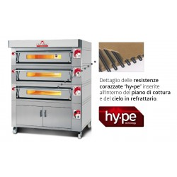 Italforni Triple Deck | EC6 EC8 EC9 EC12 | Heavy Duty Pizza Oven