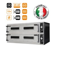 Prisma Food Trays 66L Twin Deck Electric Pizza-Bakery Oven