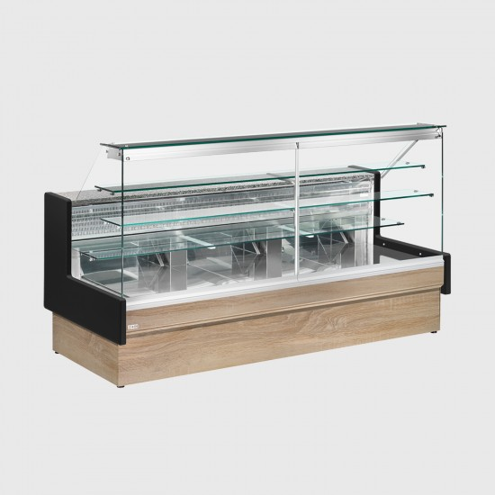 Zoin Colorado Straight Glass Patisserie and Cake Display