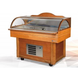Scaiola Restaurant Fish Display Counter w/ Granular Ice Maker