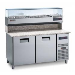 Gemm Pizza Prep Counter 60x40 - 2 Doors