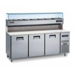 Gemm Pizza Prep Counter 60x40 - 3 doors