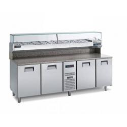Gemm Pizza Prep Counter 60x40 - 4 doors