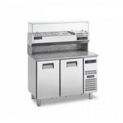 Gemm Pizza Prep Counter GN1/1 - 2 doors
