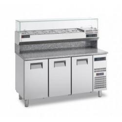 Gemm Pizza Prep Counter GN1/1 - 3 doors