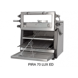 Pira 70 Lux ED Charcoal Oven - Lifting Door 60kg/h 90 Covers