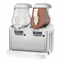 SPM Soft Ice Cream Machine - Frozen Yogurt Dispenser GT Push 2 Canister