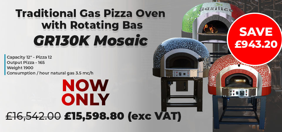 Traditional Gas Pizza Oven with Rotating Base