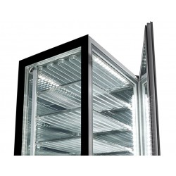 Sagi Upright Glass Ice Cream Display Black Display Luxor