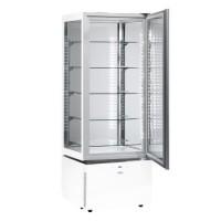 Sagi Chocolate Display Cabinet Slim White KC6QV