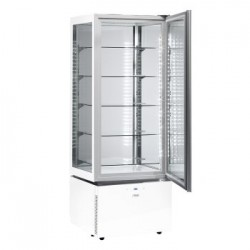 Sagi Chocolate Display Cabinet Slim White KC6QV