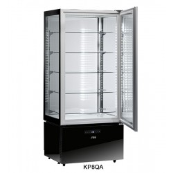 Sagi Spa Luxor Black Upright Pastry Display KP8QA