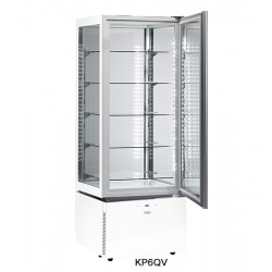 Sagi Spa Luxor White Slim Upright Pastry Display KP6QV