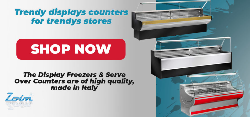 Display Freezers and Serve Over Counters
